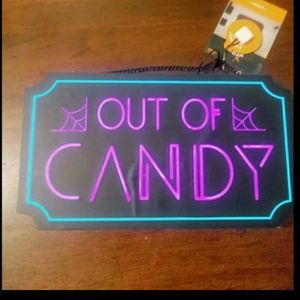 Out of candy sign